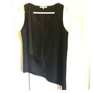 Black Asymmetrical Blouse Shirt
